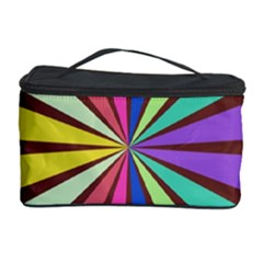 Rays in retro colors Cosmetic Storage Case