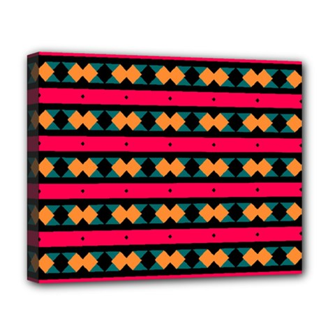 Rhombus and stripes pattern Deluxe Canvas 20  x 16  (Stretched)