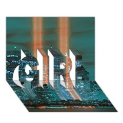 New York 2014 1206 GIRL 3D Greeting Card (7x5)
