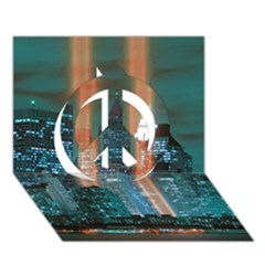 New York 2014 1206 Peace Sign 3d Greeting Card (7x5)