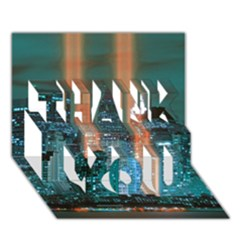 New York 2014 1206 THANK YOU 3D Greeting Card (7x5)