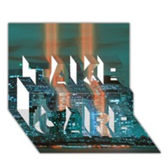 New York 2014 1206 TAKE CARE 3D Greeting Card (7x5)