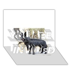 Belgian Shepherd Dog (groenendael) Full YOU ARE INVITED 3D Greeting Card (7x5)