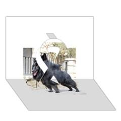 Belgian Shepherd Dog (groenendael) Full Ribbon 3D Greeting Card (7x5)