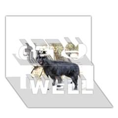 Belgian Shepherd Dog (groenendael) Full Get Well 3D Greeting Card (7x5)