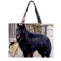 Belgian Shepherd Dog (groenendael) Full Zipper Tiny Tote Bags