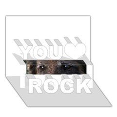 Belgian Tervueren Eyes You Rock 3D Greeting Card (7x5)
