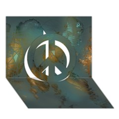 Broken Pieces Peace Sign 3D Greeting Card (7x5)