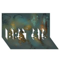 Broken Pieces BEST SIS 3D Greeting Card (8x4)