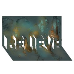 Broken Pieces BELIEVE 3D Greeting Card (8x4)