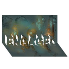 Broken Pieces ENGAGED 3D Greeting Card (8x4)
