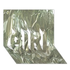 Crumpled Foil Girl 3d Greeting Card (7x5)