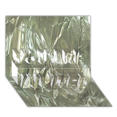 Crumpled Foil You Are Invited 3d Greeting Card (7x5)