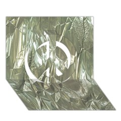 Crumpled Foil Peace Sign 3D Greeting Card (7x5)