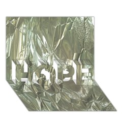 Crumpled Foil HOPE 3D Greeting Card (7x5)
