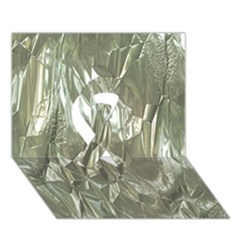 Crumpled Foil Ribbon 3D Greeting Card (7x5)