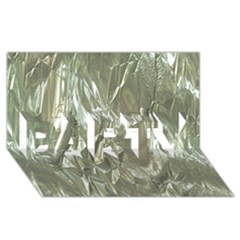 Crumpled Foil PARTY 3D Greeting Card (8x4)