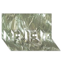 Crumpled Foil BELIEVE 3D Greeting Card (8x4)