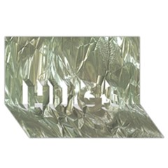 Crumpled Foil Hugs 3d Greeting Card (8x4)