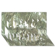 Crumpled Foil Best Wish 3D Greeting Card (8x4)