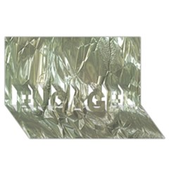 Crumpled Foil ENGAGED 3D Greeting Card (8x4)