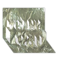 Crumpled Foil THANK YOU 3D Greeting Card (7x5)