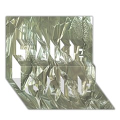 Crumpled Foil TAKE CARE 3D Greeting Card (7x5)