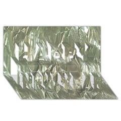 Crumpled Foil Happy New Year 3D Greeting Card (8x4)