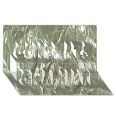Crumpled Foil Congrats Graduate 3D Greeting Card (8x4)