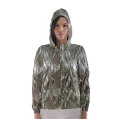Crumpled Foil Hooded Wind Breaker (women)