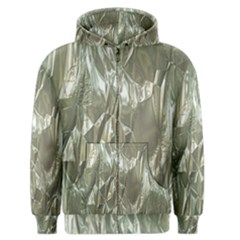 Crumpled Foil Men s Zipper Hoodies
