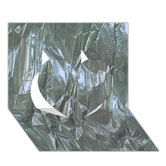Crumpled Foil Blue Heart 3D Greeting Card (7x5)