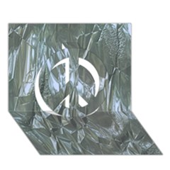 Crumpled Foil Blue Peace Sign 3D Greeting Card (7x5)