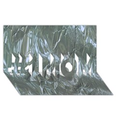Crumpled Foil Blue #1 MOM 3D Greeting Cards (8x4)