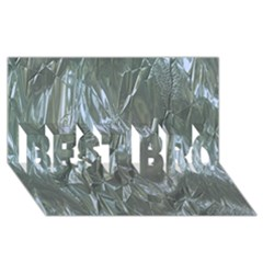 Crumpled Foil Blue BEST BRO 3D Greeting Card (8x4)