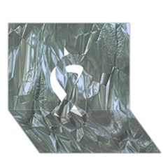 Crumpled Foil Blue Ribbon 3D Greeting Card (7x5)