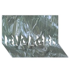 Crumpled Foil Blue Engaged 3d Greeting Card (8x4)