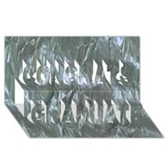 Crumpled Foil Blue Congrats Graduate 3d Greeting Card (8x4)