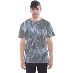 Crumpled Foil Blue Men s Sport Mesh Tees