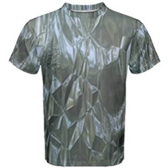 Crumpled Foil Blue Men s Cotton Tees