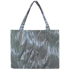 Crumpled Foil Blue Tiny Tote Bags