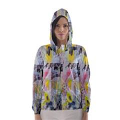 Graffiti Graphic Hooded Wind Breaker (Women)