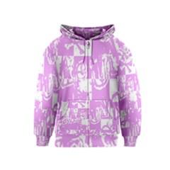 Pink Graffiti Skull Kids Zipper Hoodies