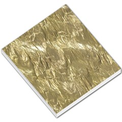 Crumpled Foil Golden Small Memo Pads