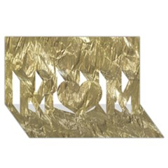 Crumpled Foil Golden MOM 3D Greeting Card (8x4)