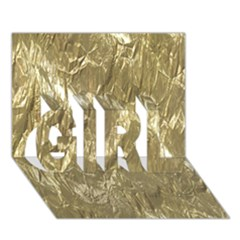 Crumpled Foil Golden GIRL 3D Greeting Card (7x5)