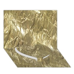 Crumpled Foil Golden Heart Bottom 3d Greeting Card (7x5)