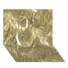 Crumpled Foil Golden Apple 3d Greeting Card (7x5)