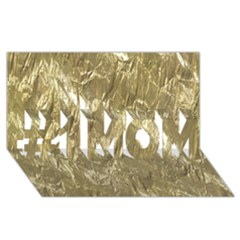 Crumpled Foil Golden #1 Mom 3d Greeting Cards (8x4)