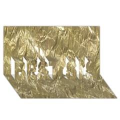 Crumpled Foil Golden Best Sis 3d Greeting Card (8x4)